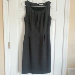 Calvin Klein Charcoal Gray Sheath Dress size 6